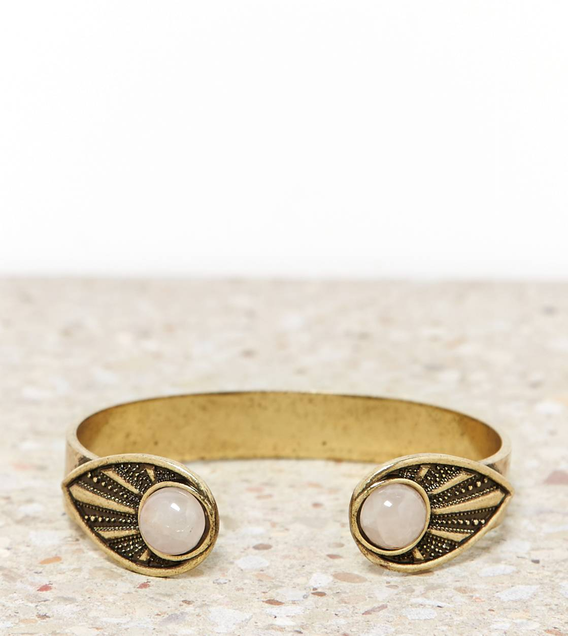 Gold AEO Rose Quartz Cuff