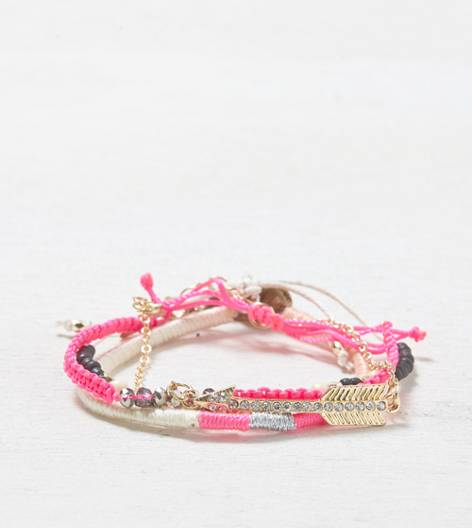Multi AEO Bright Mixed Metal Bracelet Set