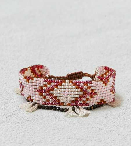 AEO Bead & Tassel Bracelet Duo  - Buy One Get One 50% Off