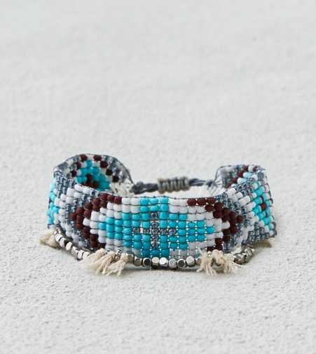 AEO Blue Bead & Tassel Bracelet Duo  - Buy One Get One 50% Off
