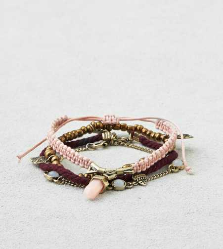 AEO Brass & Pink Arm Party  - Buy One Get One 50% Off