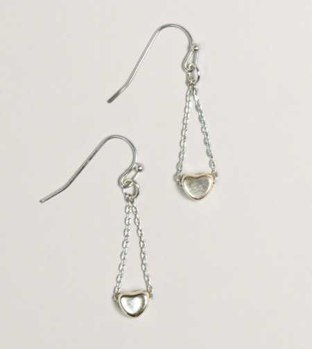AEO Heart Chain Earrings