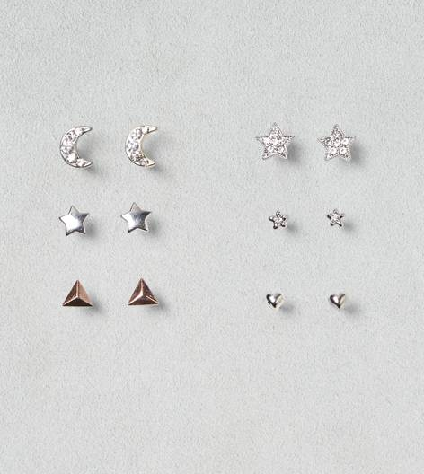 Mixed Metal AEO Stud Shapes 6-Pack