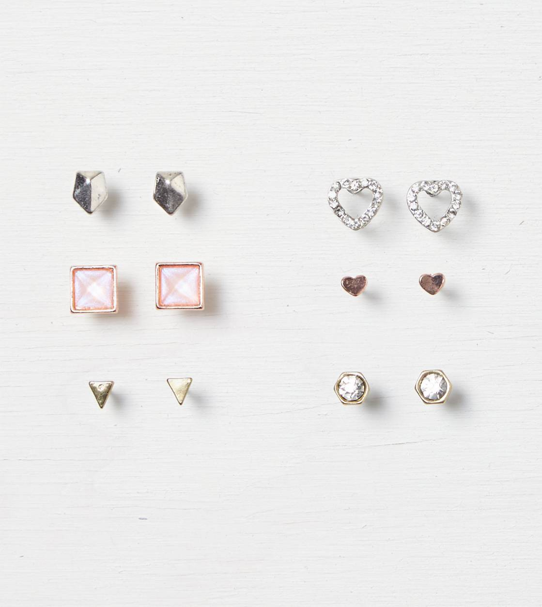 Mixed Metal AEO Geo Stud 6-Pack