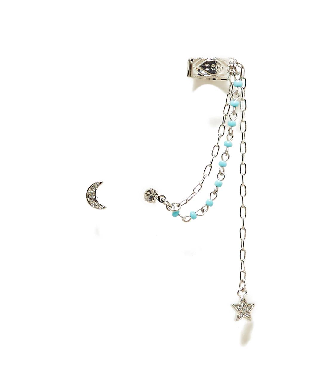 Silver AEO Turqouise Beaded Ear Cuffs
