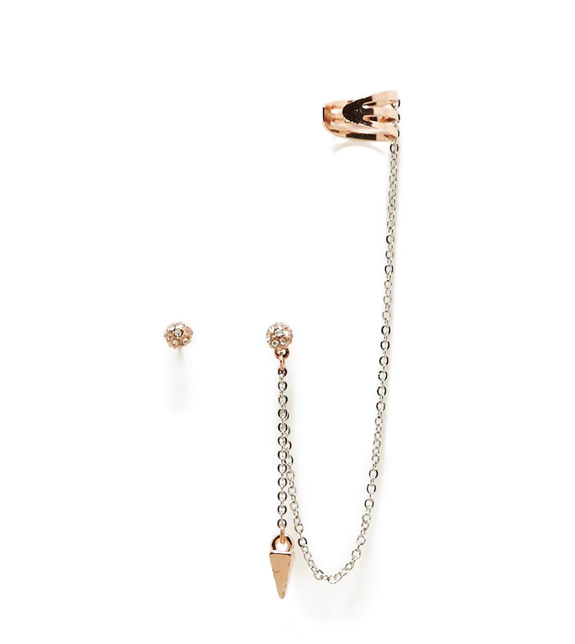 Mixed Metal AEO Rose Gold Spike Ear Cuffs