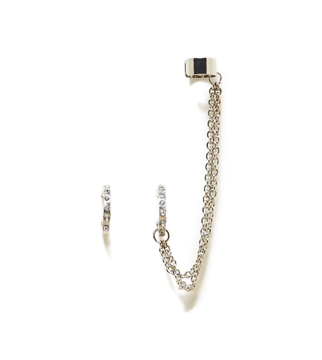 Silver AEO Chain Link Ear Cuffs