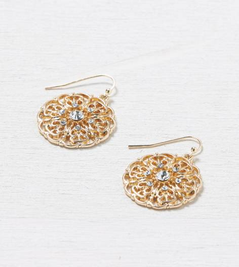 Gold AEO Laser Cut Earring