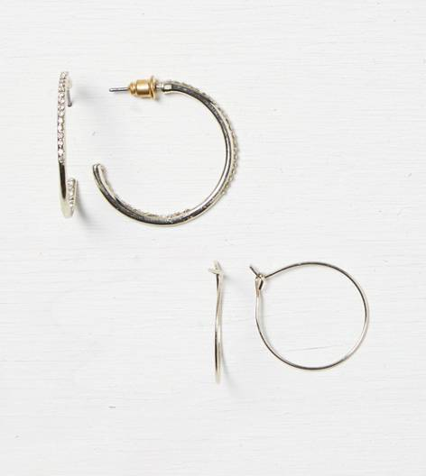 Gold AEO Hoop Earring Duo