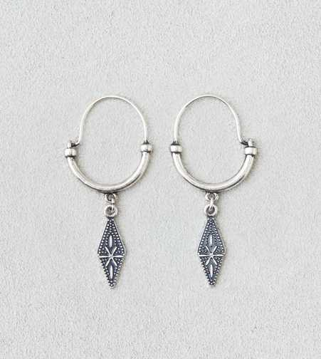 AEO Diamond Dangle Hoop Earrings