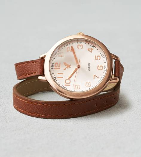 Leather AEO Wrap Watch
