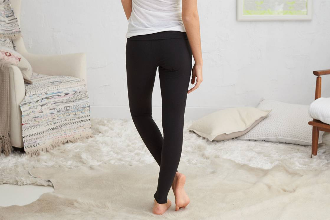 True Black Aerie Skinny Yoga Pant