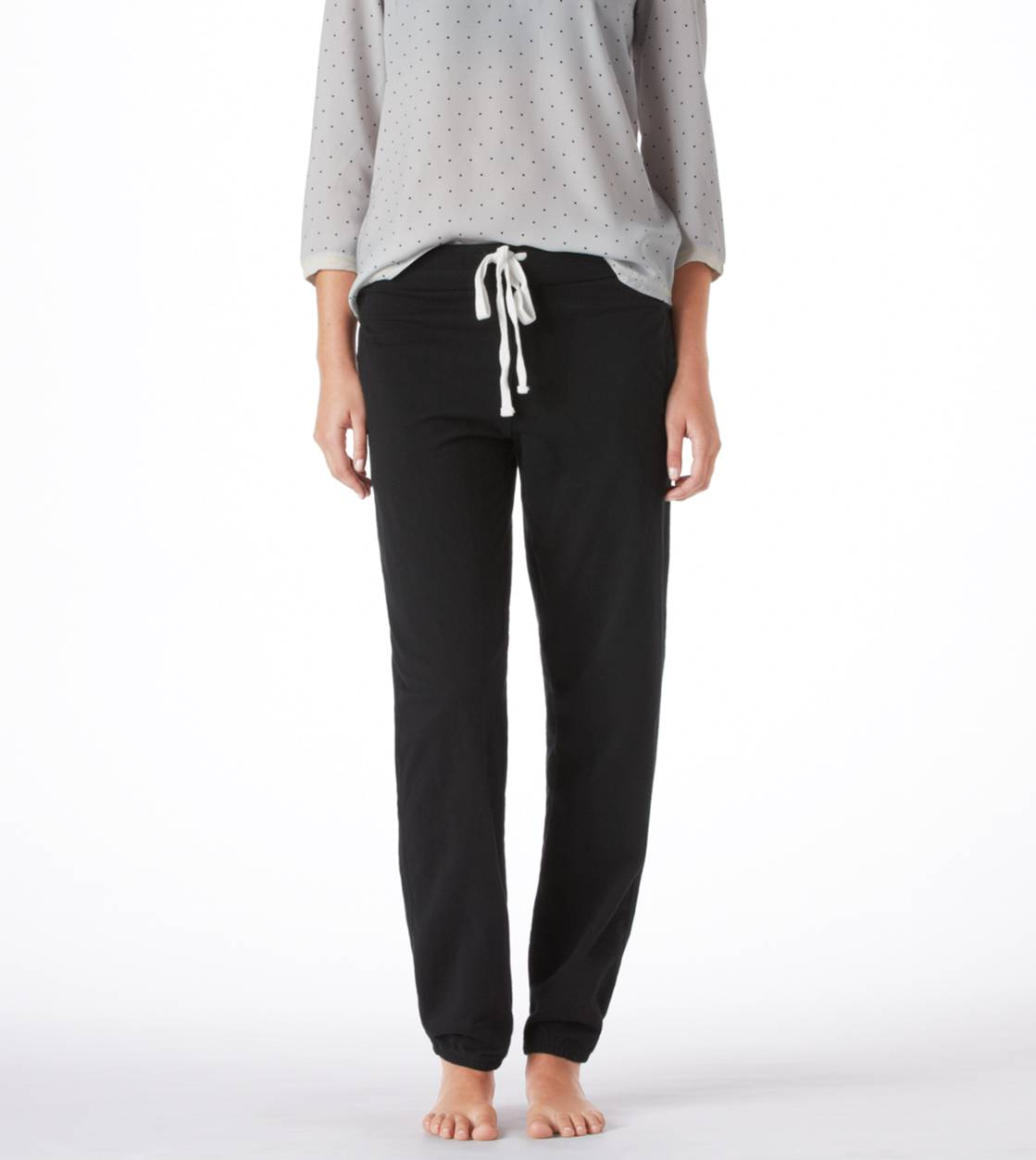 True Black Aerie Boyfriend Sweatpant