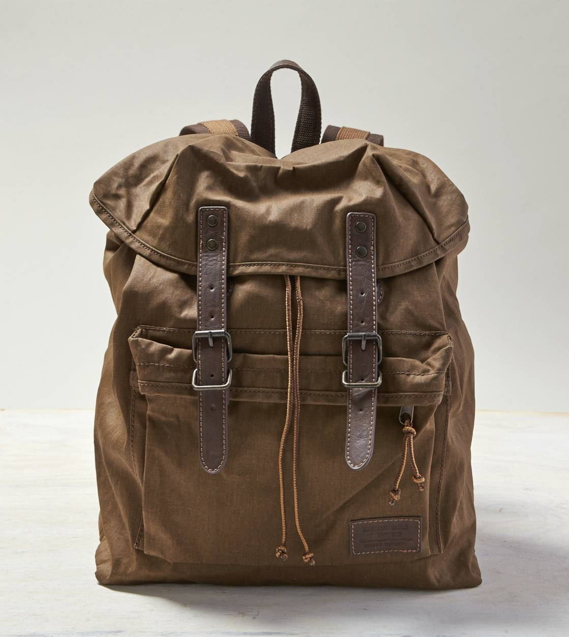 Khaki AEO Canvas Backpack