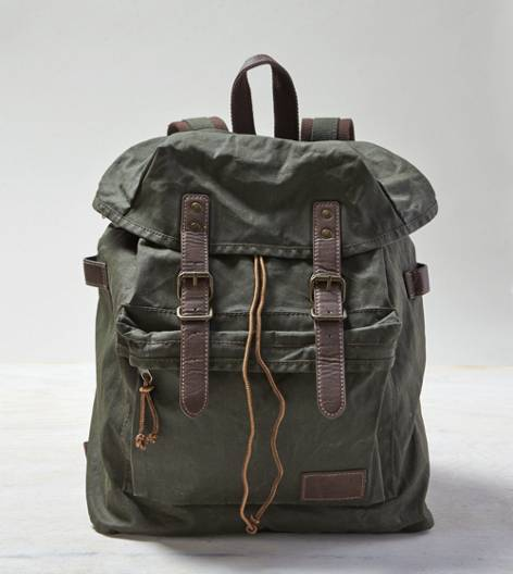 Green AEO Canvas Backpack