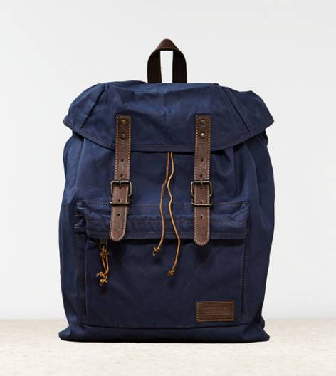 Navy AEO Canvas Backpack