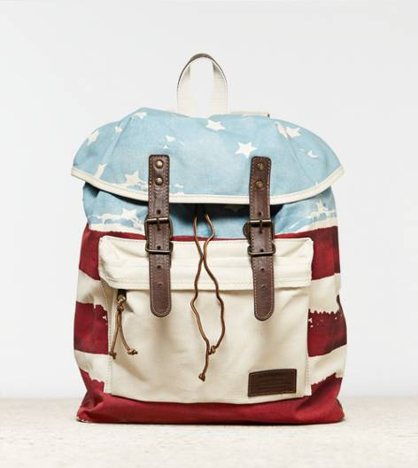 White  AEO Flag Backpack