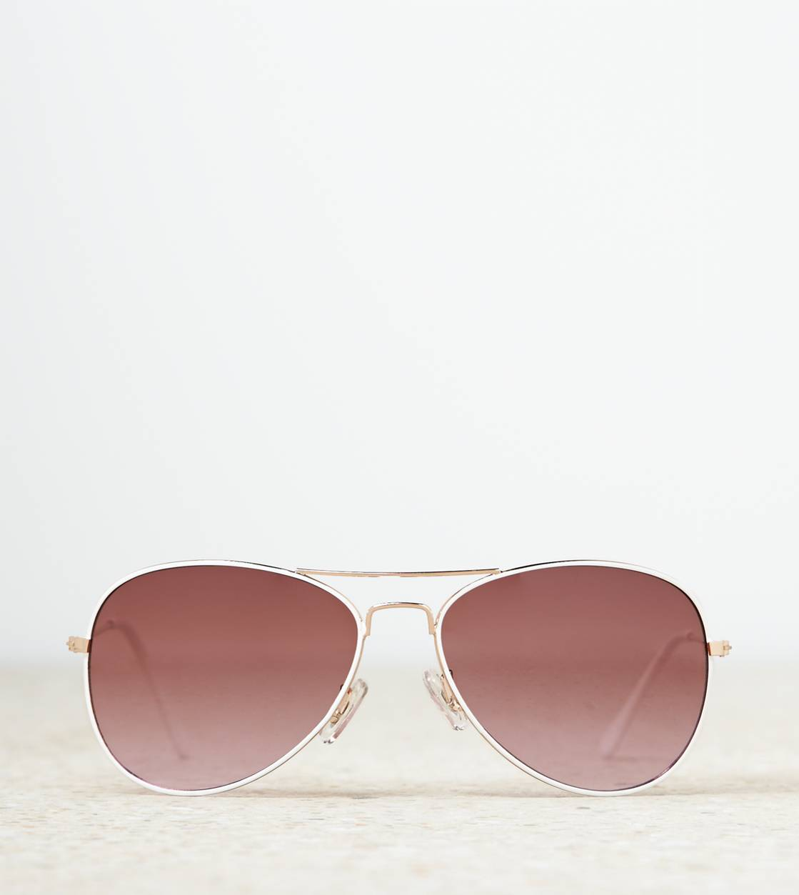 White  AEO Aviator Sunglasses