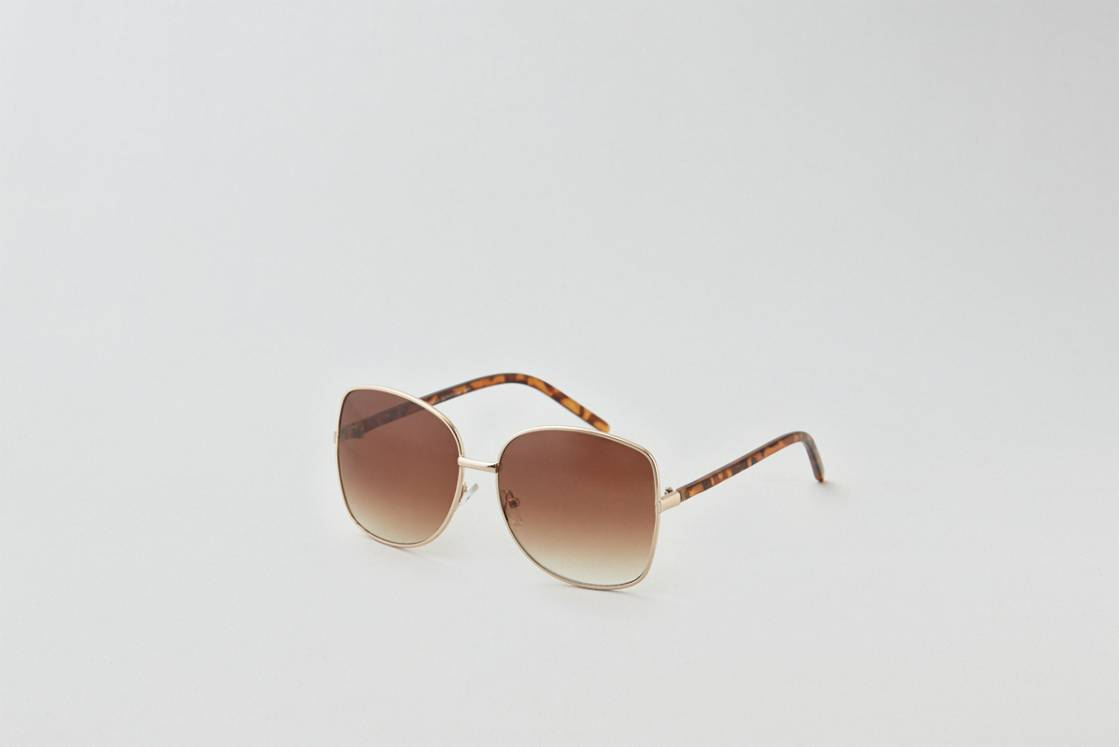 Gold AEO Oversized Sunglasses