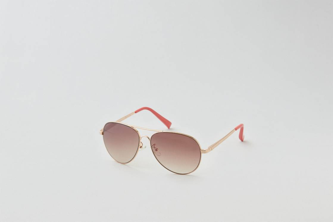 Rose Gold AEO Rose Gold Aviator Sunglasses