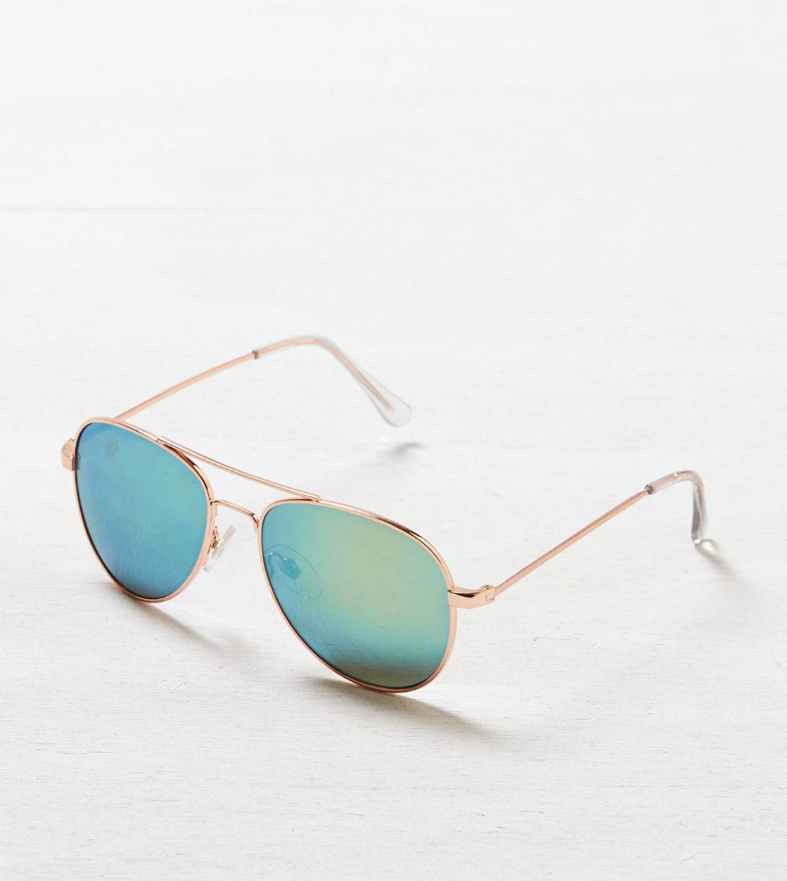 Rose Gold AEO Mirrored Aviator Sunglasses