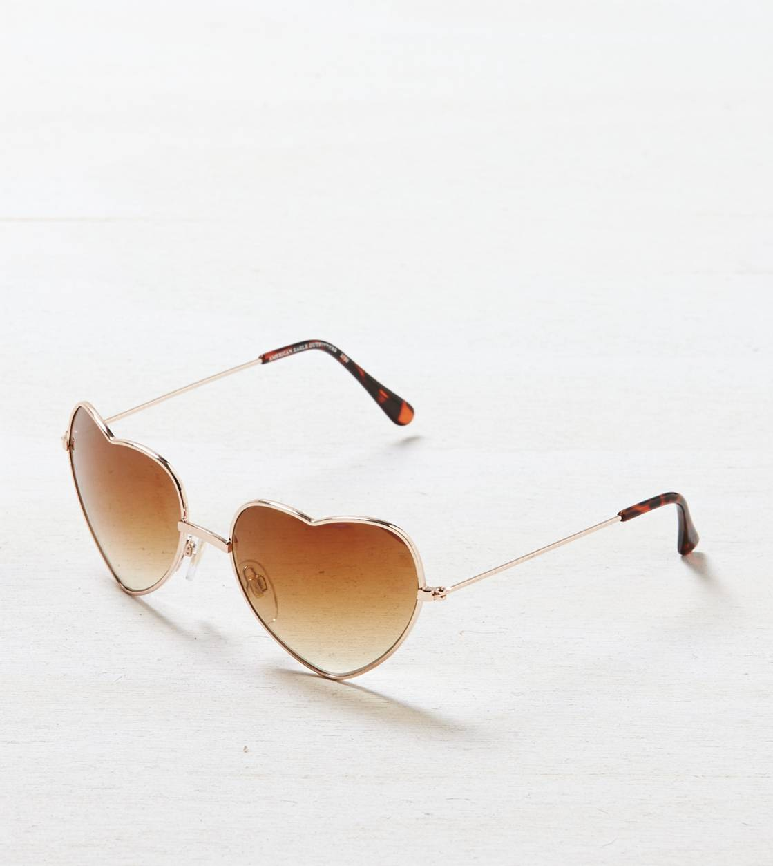 Gold AEO Heart Shaped Sunglasses