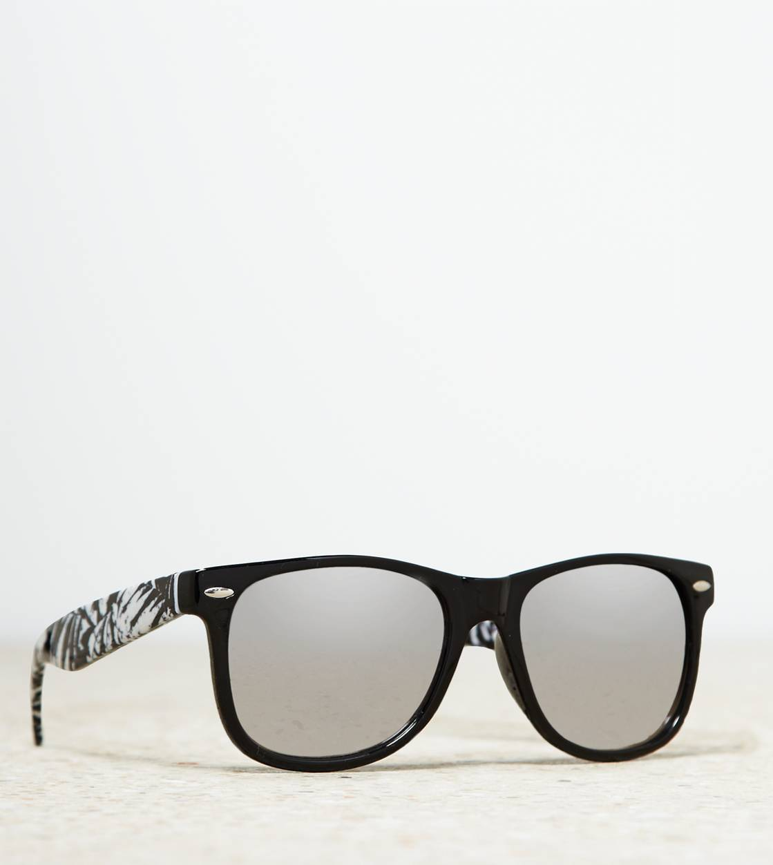 Black AEO Mirrored Icon Sunglasses