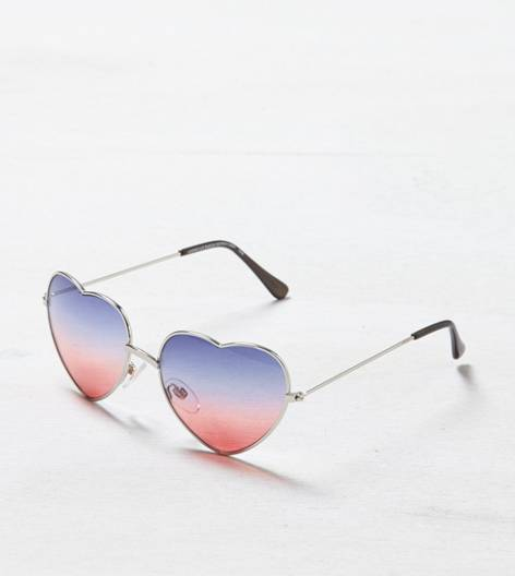 Multi AEO Heart-Shaped Sunglasses