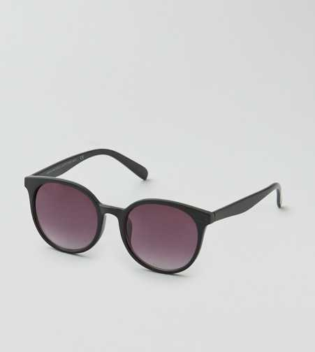 AEO Black Preppy Round Sunglasses