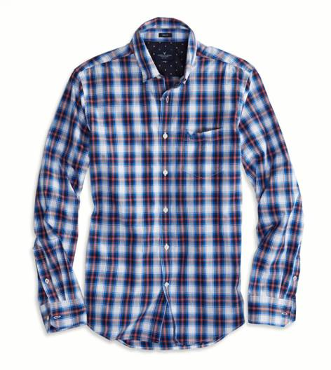 Blue Bird AEO Factory Printed Button Down Shirt