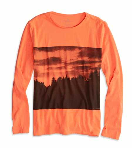 AEO Factory Photo Real Long Sleeve T-Shirt