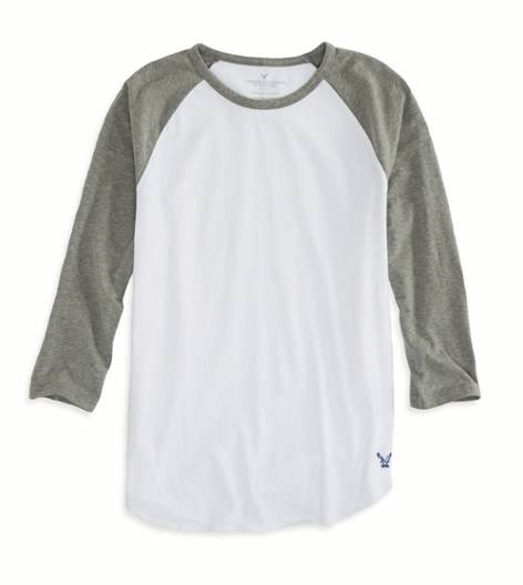 City Grey AEO Factory Photo Real Baseball T-Shirt