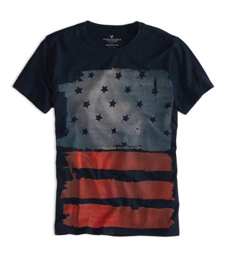 Fleet Navy AEO Factory Flag Graphic T-Shirt