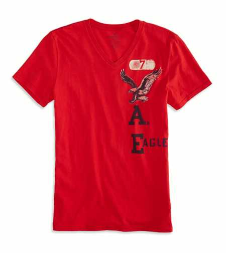 AEO Factory Signature Graphic V-Neck T-Shirt