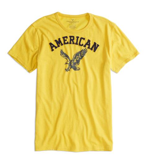 Canary AEO Factory Applique Graphic T-Shirt