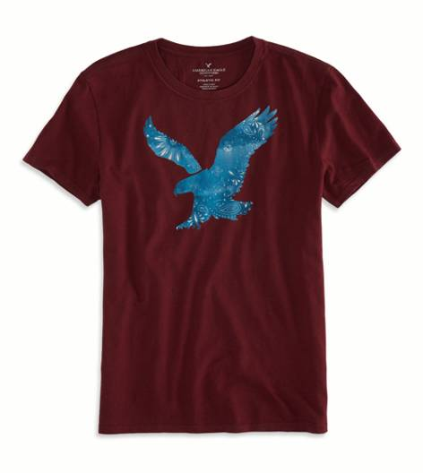 Merlot AEO Factory Bandana Graphic T-Shirt