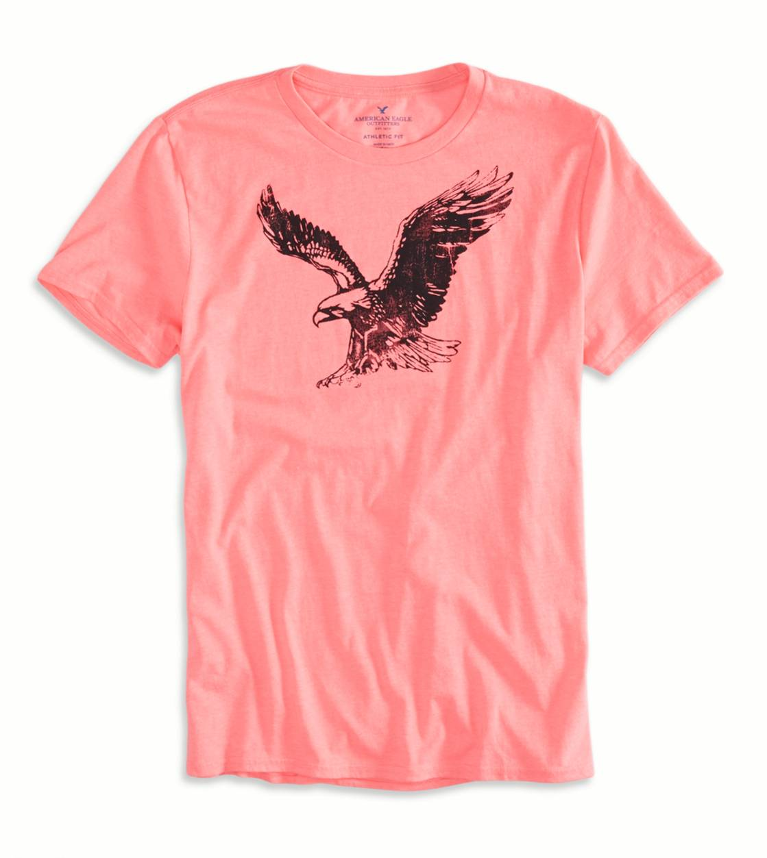 Hyper Neon Pink AEO Factory Graphic T-Shirt
