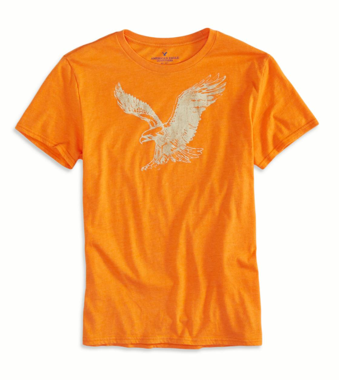 Deep Orange AEO Factory Graphic T-Shirt