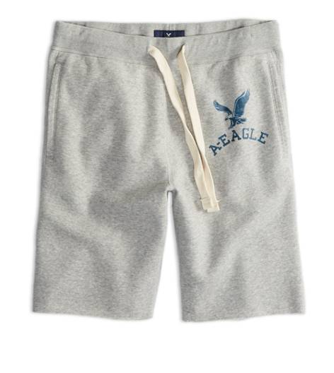 Light Heather Grey AEO Factory Fleece Short