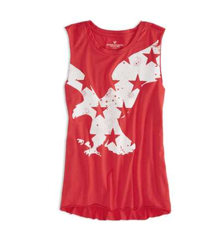 AEO Factory Graphic Muscle Tank