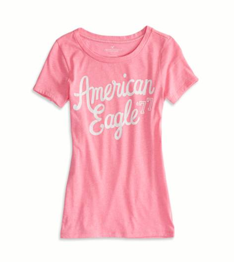 Voltage Pink AEO Factory Graphic T-Shirt