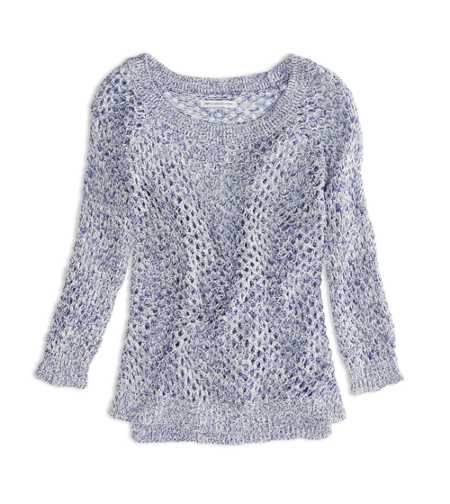 AEO Factory Open Stitch Raglan Sweater