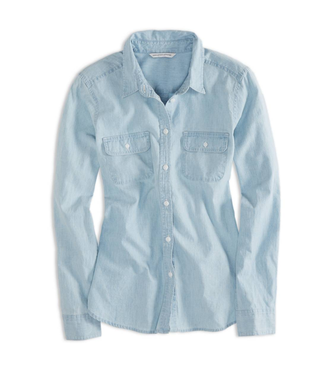 Light Wash AEO Chambray Boyfriend Shirt