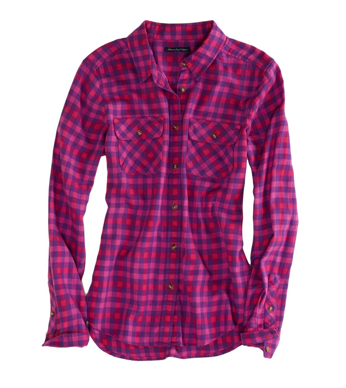 Pink Spirit AEO Factory Girlfriend Flannel