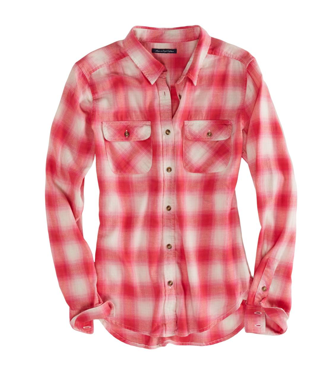 Pink AEO Factory Girlfriend Flannel