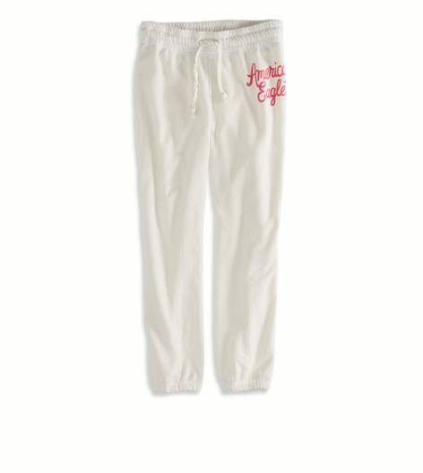 Chalk AEO Factory Cropped Sweatpant
