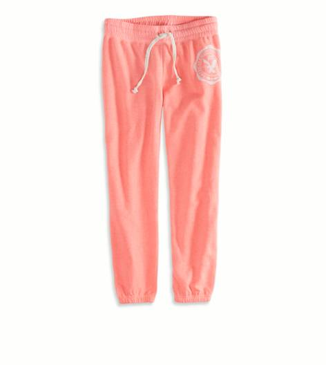 Knockout Pink AEO Factory Cropped Sweatpant
