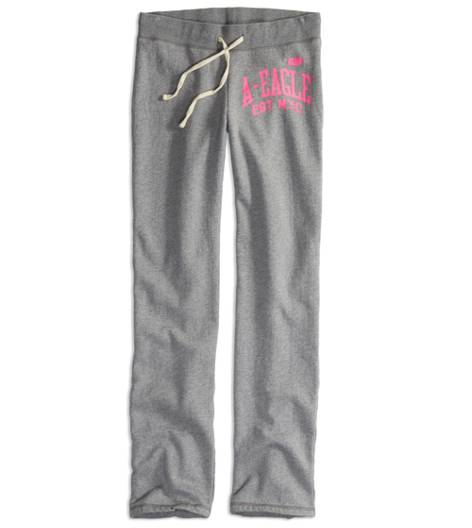 Medium Heather Grey AEO Factory Sweatpant