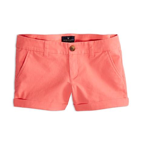 Knockout Pink AEO Factory Midi Short