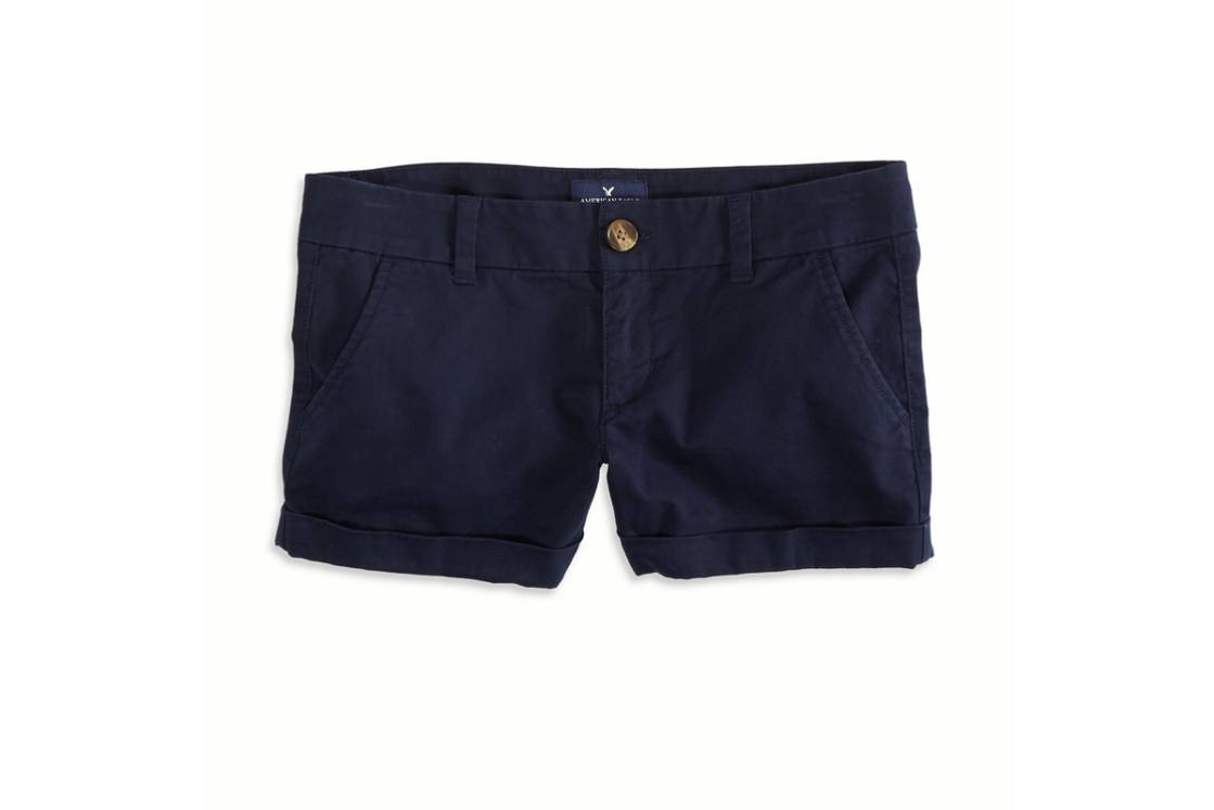 Uniform Navy AEO Factory Midi Short